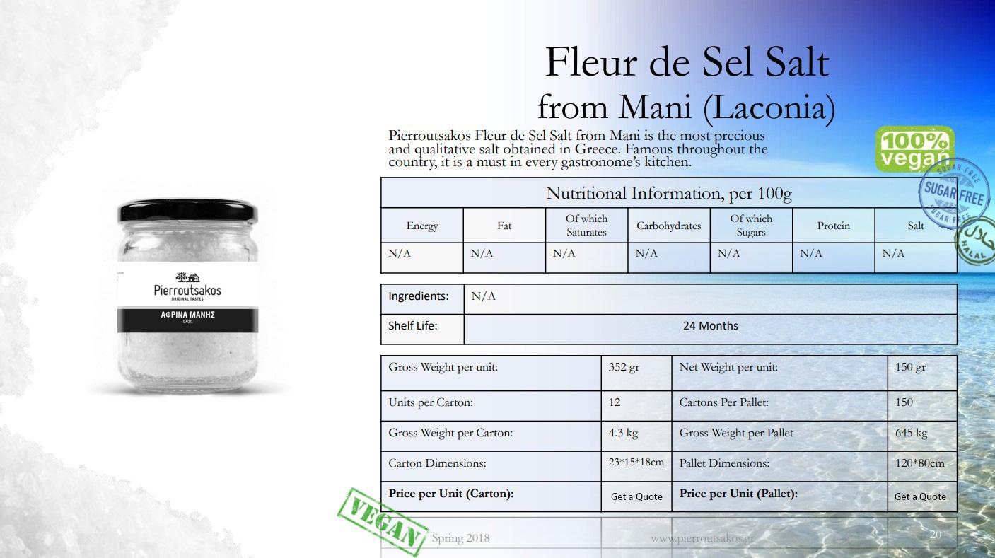 Fleur de Sel Salt from Mani (Laconia) Image