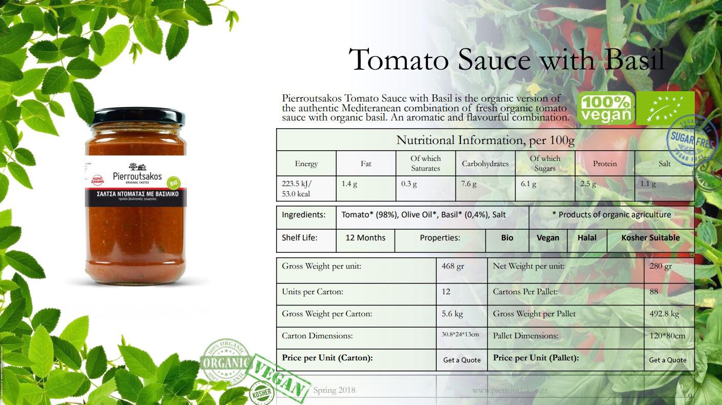 Tomato Sauce with Basil Image